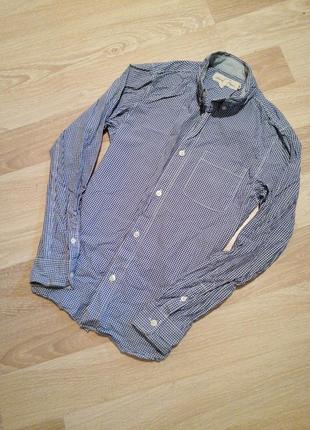 Рубашка в мелкую клеточку на 11-12лет