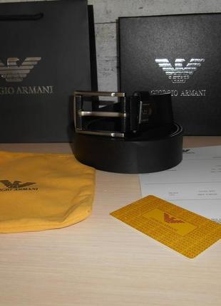 Мужской ремень пояс armani, кожа, италия, оригинал 228