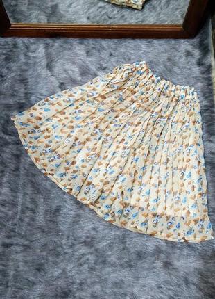 Sale юбка плиссировка с принтом