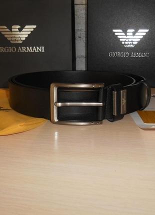 Мужской ремень пояс armani, кожа, италия, оригинал 230