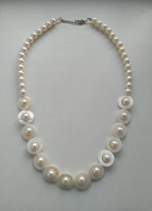 Жемчуг ожерелье намисто перламутровое