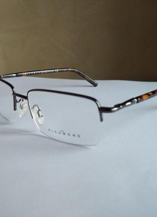 Брендовая полуободковая оправа под линзы очки оригинал richmond jr22803 новая