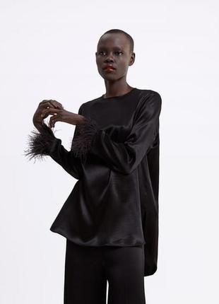 Чёрная блуза zara