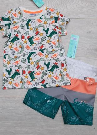 Костюм летний для мальчика футболка с крокодилами и шорты. pepco, польша