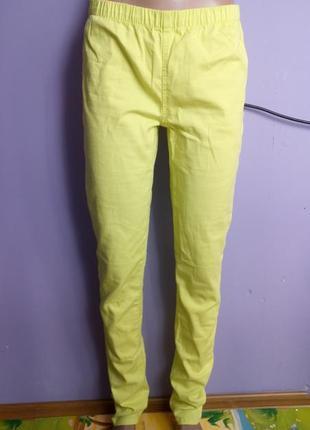 Жовті брюки 28-29р,жовті штани(желтые брюки)