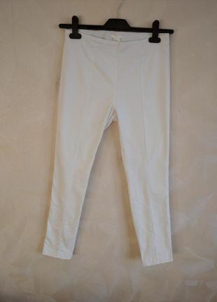 Фирменные летние белые коттоновые штаны, лоссины, леггинсы, джеггинсы h&m