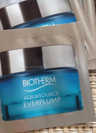 Пробники крема biotherm aquasource everplump новинка саше