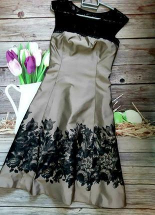 Стильное коктейльное платье миди