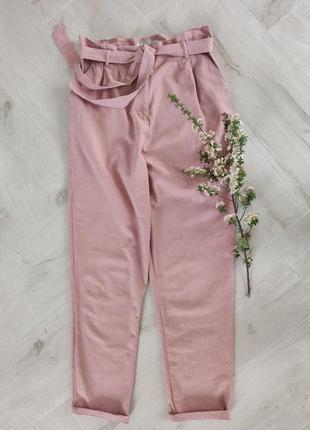 Стильный брюки цвета чайной розы от asos, размер m-l
