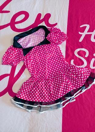 Платье косплей карнавальное в горошек минни маус minnie mouse