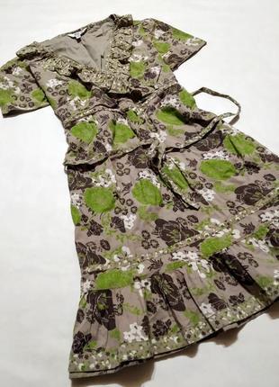 Платье мини хлопок
