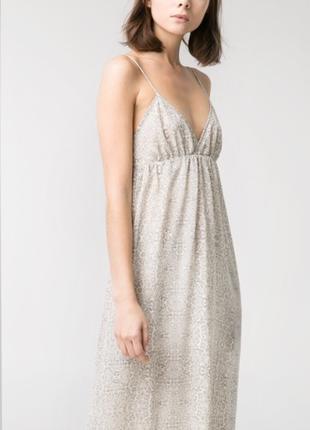 Платье-сарафан с открытой спиной mango casual / m /xl / цвет серый