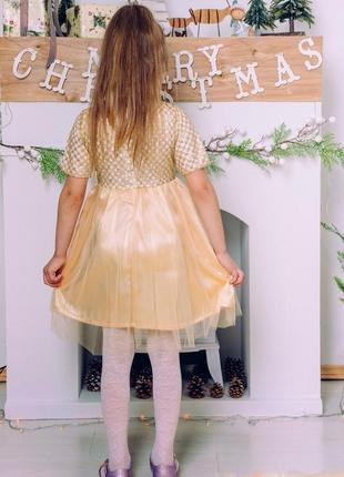 Платье золото m0082 фото