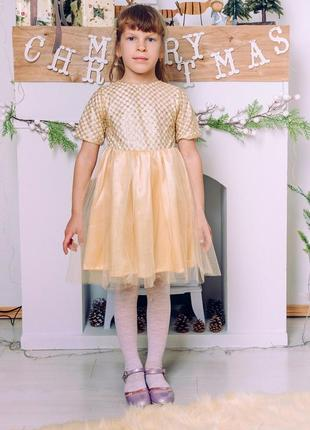 Платье золото m0081 фото