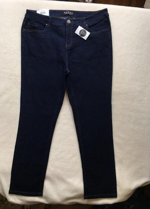 Летние джинсы слим зауженные прямые высокая посадка peacocks5 фото