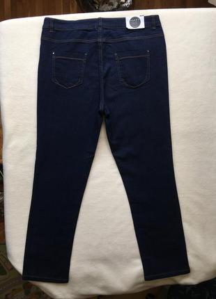 Летние джинсы слим зауженные прямые высокая посадка peacocks8 фото