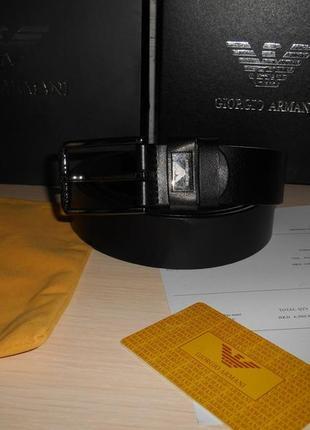 Мужской ремень пояс armani, кожа, италия, оригинал 236