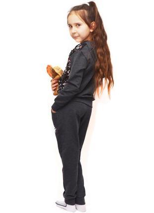 Детский шикарный костюм паетка 0352 фото