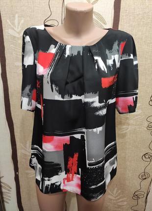 M&co свободная летняя блуза с коротким рукавом. состояние новой!