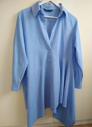 Голубое платье рубашка zara