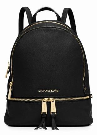 Черный кожаный рюкзак michael kors, оригинал!