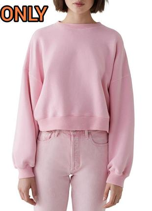 Only m/38 нежно розовый оверсайз свитшот зефирка