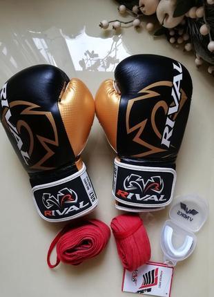 Боксерские перчатки и бинты rival rb7 12 унций