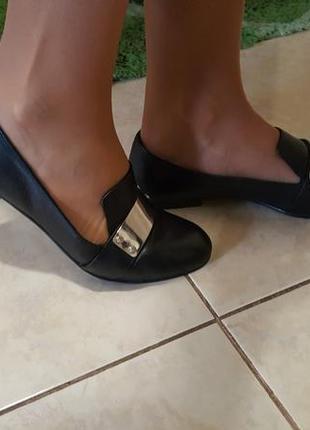 Туфли кожа bianco 38