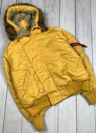 Бомбер куртка alpha industries мужская xl с капюшоном лента