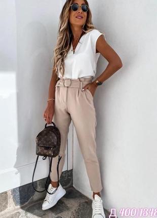 Стильный костюм блуза и брюки