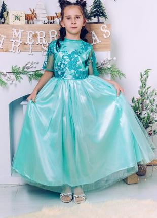 Шикарное платье для девочки в пол m075