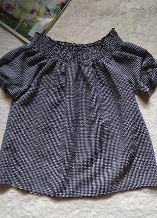 Блузка со спущенными плечами на 14 лет miss e-vie