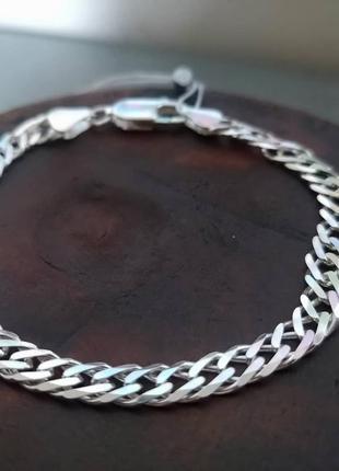 Срібний чоловічий браслет (мужской браслет, серебро,срібло)925 проба.