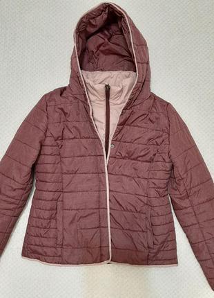 Легкая, теплая стеганая деми куртка jean pascale р. 46-48 (14/42)1 фото