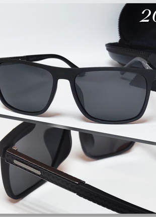 Мужские черные очки с поляризацией