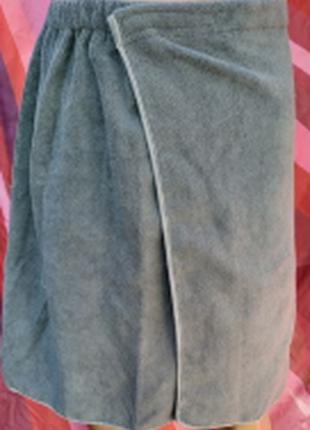 Мужское полотенце-юбка (килт) для бани,сауны,бассейна + полотенце для лица