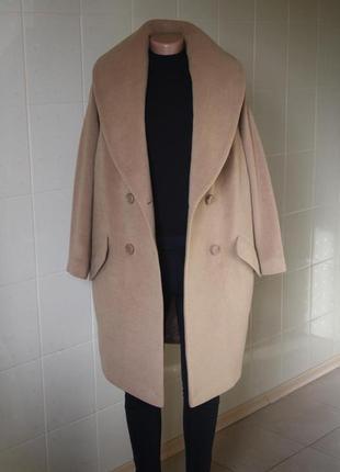 Пальто оверсайз, шерстяное пальто ashley brooke