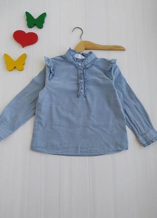 3-4 года рубашка для девочки h&m
