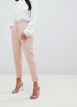 Актуальные брюки пудрового цвета asos зауженные к низу