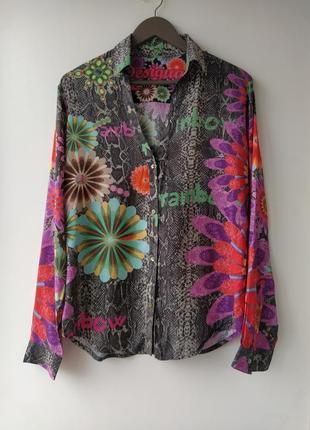 Оригинальная нереально красивая рубашка от desigual 100% вискоза