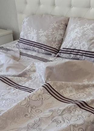 Двуспальный комплект постельного белья из бязи абстракция