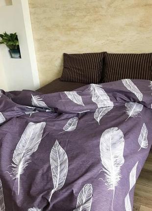 Двуспальный комплект постельного белья из бязи перья