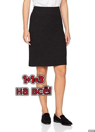 🌿1+1=3 шикарная черная юбка-карандаш миди 45% шерсть gerry weber, размер 46 - 48