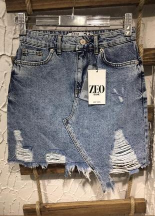 Юбка джинсовая на лето купить недорого zeo basic