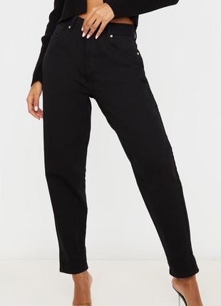 Базовые чёрные джинсы. dad momjeans, момчики1 фото