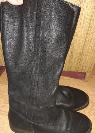 Чорні чоботи шкіра bvka р41 натуральне хутро