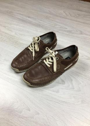 Кожаные фирменные туфли bugatti u1506-8 ecco!