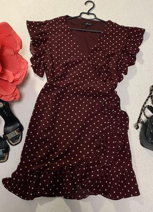 Стильное платье на запах,размер 3xl