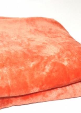 Полуторный оранжевый плед из махры