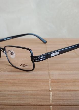 Узкая фирменная металлическая оправа под линзы очки оригинал g.ferre gf32101